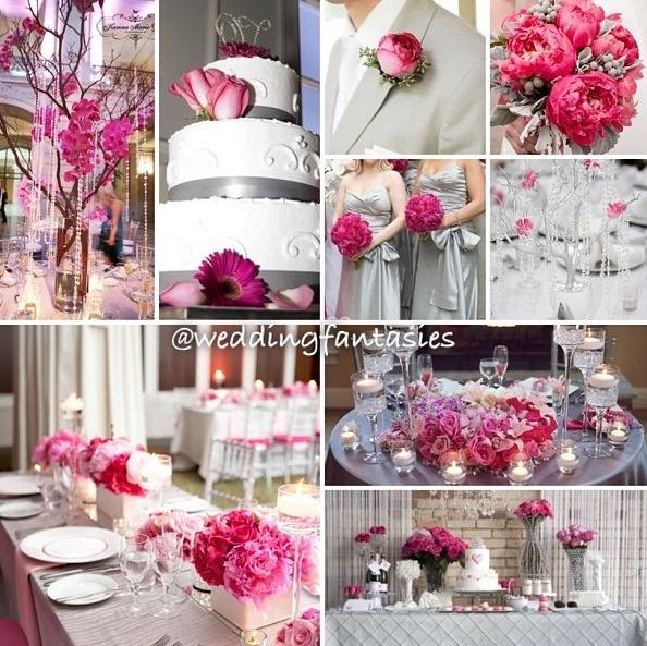 Pink silver reception