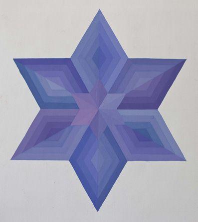 Mandala con sei rombi di base.