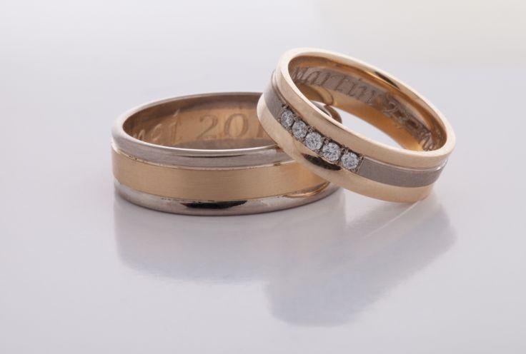 geel wit gouden ringen 3 - Albino TrouwringenAlbino Trouwringen