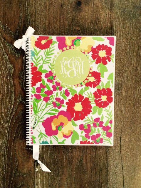 Custom Monogrammed Wedding Planner Lilly By Organizedbride