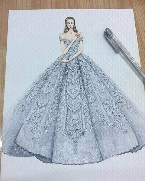how to draw a dress model