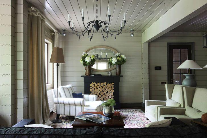 Уютный дачный дом в Подмосковье | Пуфик - блог о дизайне интерьера