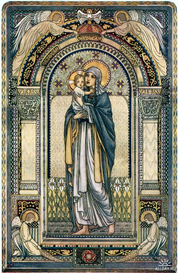 Luke 1:48-- For behold, from henceforth all generations shall call me blessed.    Labrousse, Madonna 1918
