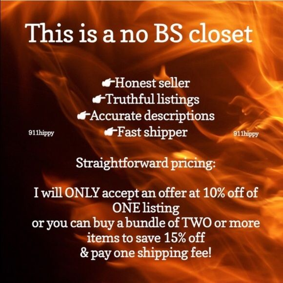 🚒Welcome to my closet I am a Firefighter/EMT & Veteran. I'm selling some of my items to help w/ bills since my wife isn't working due to illness. So please show respect & follow my rules, rate me fairly or get blocked. I have no tolerance for BS. I offer a great bundle discount. Shipping is same or next day. All items listed are my own. Photos taken in natural light to represent items fairly. Ask questions prior to purchase if you have concerns. I am here to sell only, not buy. NO TRADES or…