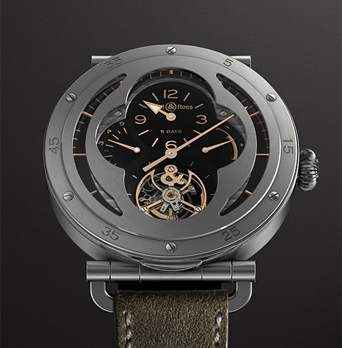 (LIMITED EDITION OF 20 PIECES) A FINE PIECE OF WATCHMAKING THAT REVISITS HISTORY. Bell & Ross WW2 Military Tourbillon