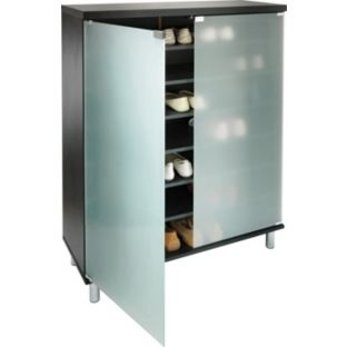 buy hygena milan shoe storage cabinet with frosted glass. Black Bedroom Furniture Sets. Home Design Ideas