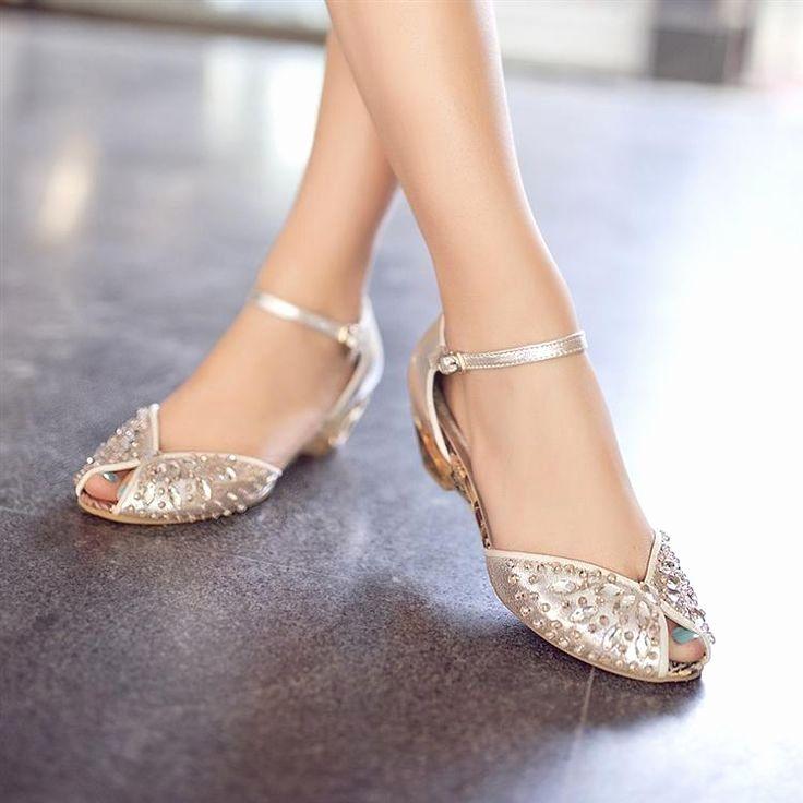 6561c85f854 Fancy Wedding Shoes Unique Bridal Stones Sandal High Heels Fancy Flat and  Duckle Pumps