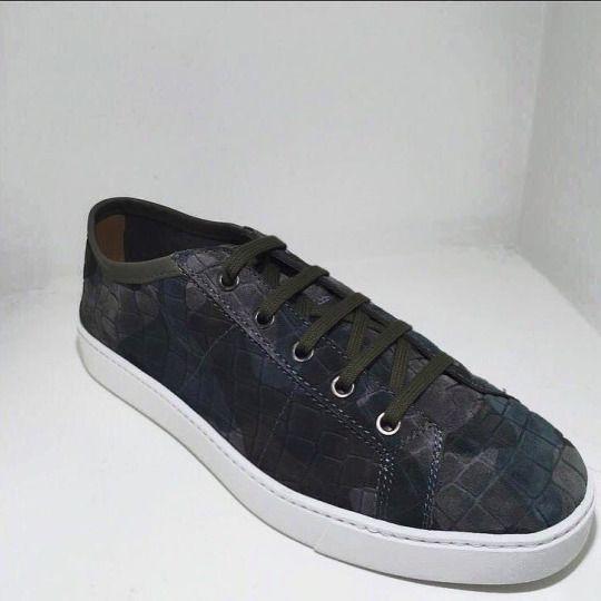 Camouflage Santoni sneakers.  #ss16#shopincrocio