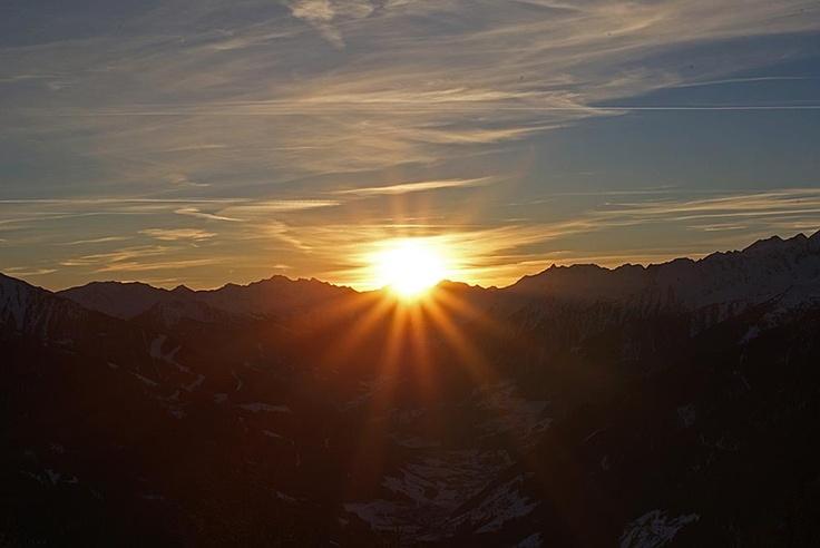 Sonnenuntergang im Ahrntal Südtirol