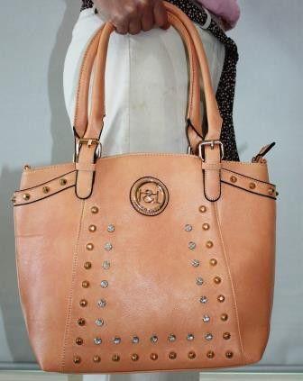 Soft Apricot Rhinestone Handbag – Jewels Hangbag Hut