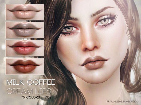 Pralinesims' Milk Coffee Cream Lips N108