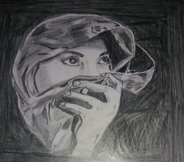 The girl with a scarf