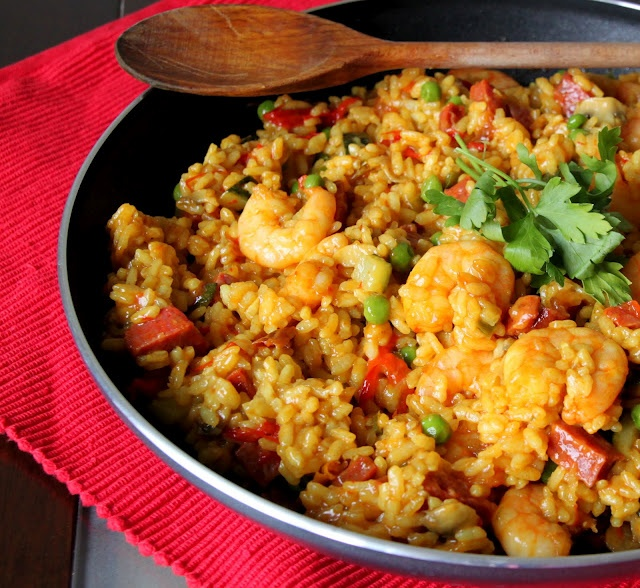 Chorizo and Shrimp Paella | Food for Parties! | Pinterest