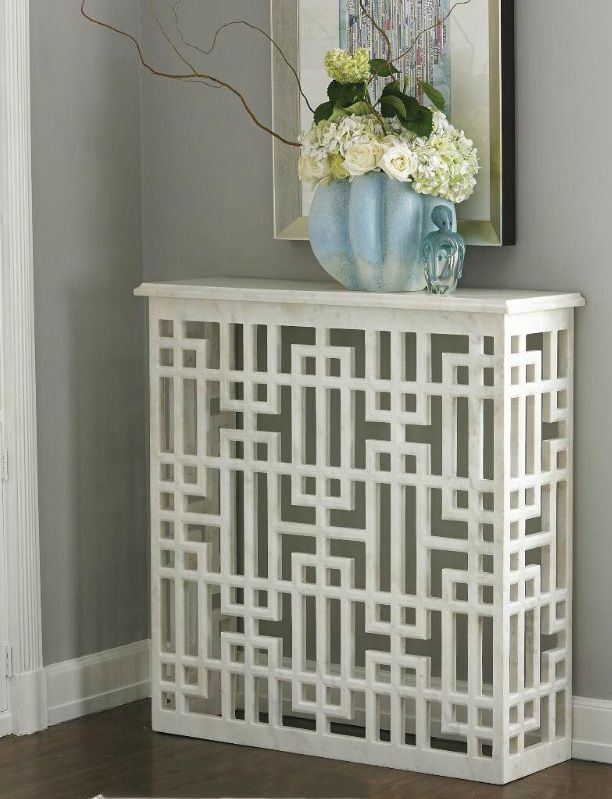 Global Views Marble Gridblock Console Table. Radiator Cover