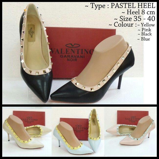 Sepatu Valentino Pastel Heels 4811 Blue 39,40 Black 39 210rb