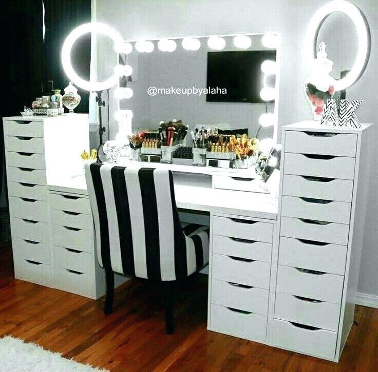 Ikea Makeup Desk Makeup Desk Makeup Desk Desks Set Makeup Desk How To Set Up Drawers For Beginners Ikea Mak Beauty Room Design Makeup Table Vanity Beauty Room