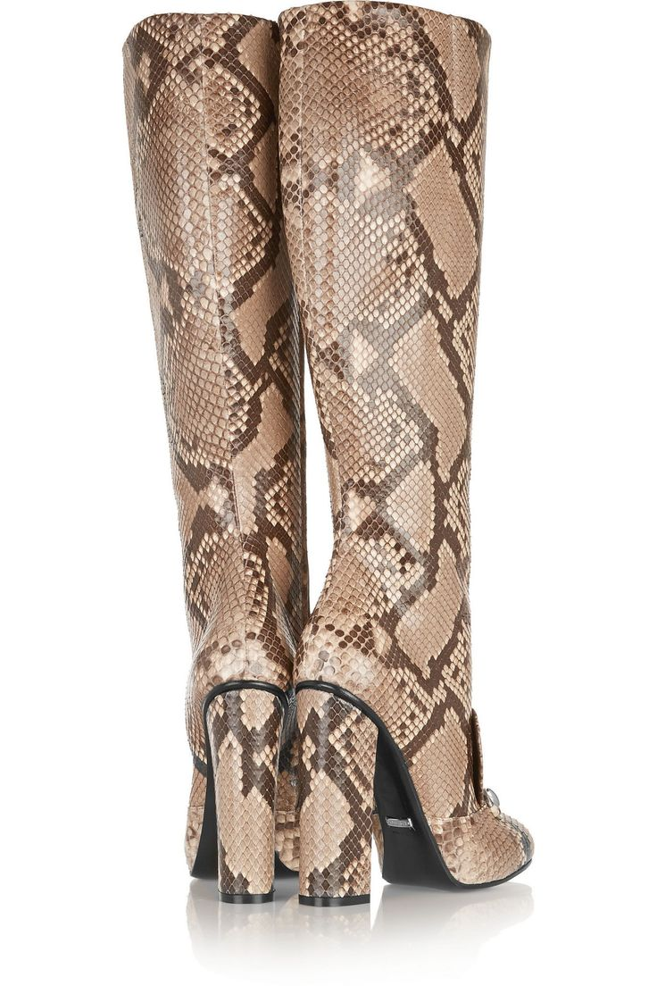 Horsebit-detailed python knee boot | GUCCI | Sale up to 70% off | THE OUTNET