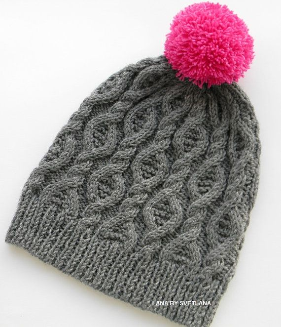 Hat made from luxury yarns Hand Knit Hat Womens от LANABYSVETLANA
