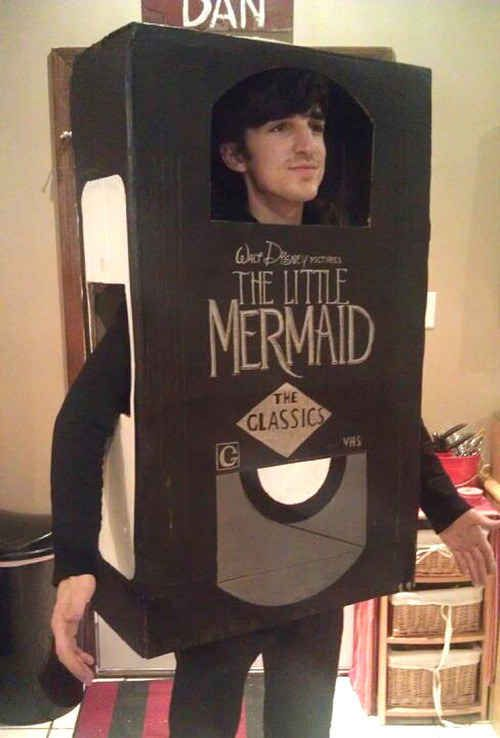 And for ultimate nostalgia, go as a Disney VHS. | 31 Disney Costume Tutorials You Have To Try This Halloween