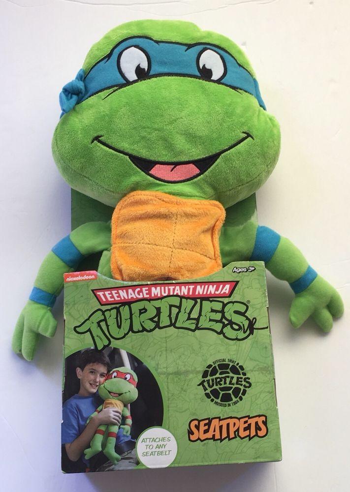 Seat Pets Teenage Mutant Ninja Turtles Leonaro Seatbelt Pillow Plush Green Blue Eba Leonardo Ninja Turtle Teenage Mutant Ninja Turtles Teenage Mutant Ninja