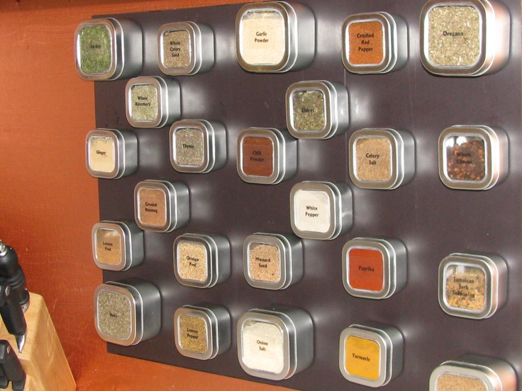 Magnetic Spice Rack! This Would Be Nice In My Next Kitchen. No More Digging