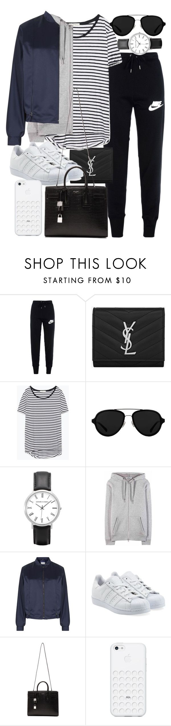 """Untitled #19476"" by florencia95 ❤ liked on Polyvore featuring NIKE, Yves Saint Laurent, Zara, 3.1 Phillip Lim, T By Alexander Wang, Maison Margiela and adidas Originals"