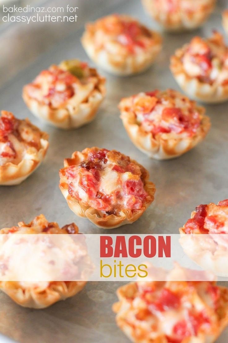 Tomato Bacon Bites - THE perfect appetizer & Game Day food! Click for Recipe