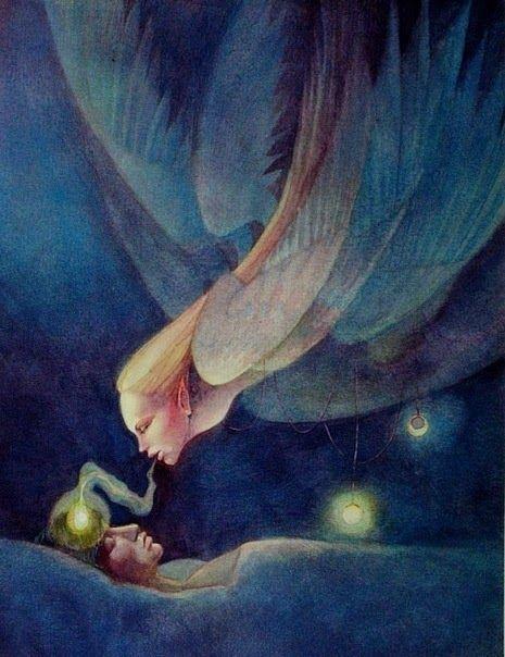 Als ik wakker wordt zie ik de prachtige energieën van de engelen. Ze zijn om mij heen, in de kamer, de gang en in mijn werkkamer. Het licht wat zij uitstralen vormen mooie kleuren en contouren wat op hun buurt weer een beeld vormt hoe de engel eruit ziet. Het geeft zoveel liefde, warmte en een veil