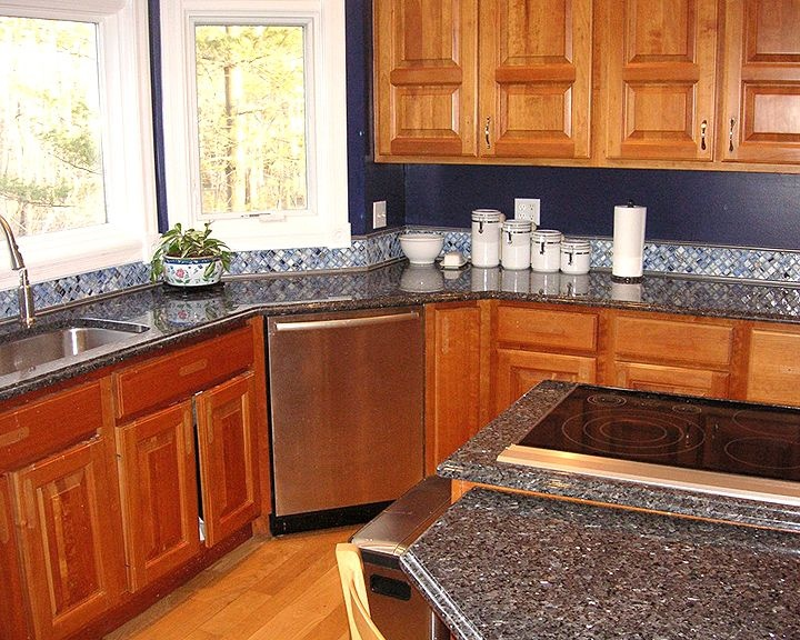44 best images about granite on pinterest blue granite for Blue countertops kitchen ideas