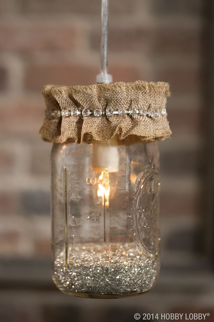 Hang some happy with help from our pendant light kits! There's no drilling,  no - 50 Best Mason Jar Projects Images On Pinterest Mason Jar Crafts