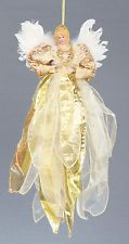 Large Gold Angel Fairy Christmas Tree Top Topper Decoration CLEARANCE SALE
