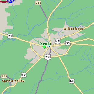 Map Guide To Hotel Rates And Reservations In Xenia Ohio