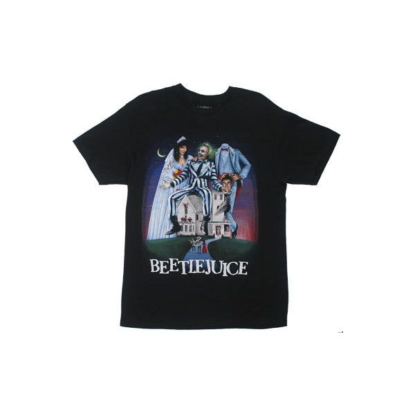 Beetlejuice T-shirt - MyTeeSpot - Your T-shirt Store ($19) ❤ liked on Polyvore featuring tops, t-shirts, shirts, tees, comic book, cartoon shirts, 80s fashion, t shirts and retro t shirts