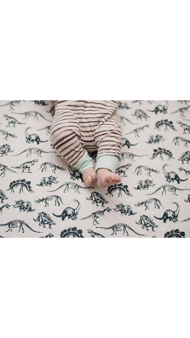 Mini Crib Bedding, Black And White Dinosaur Baby Bedding