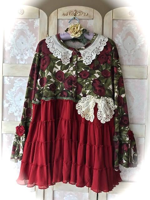 Rustic N' Romantic Winter Roses Boho Tunic Vintage Laces Shabby N' Chic Size XLarge by IzzyRoo on Etsy