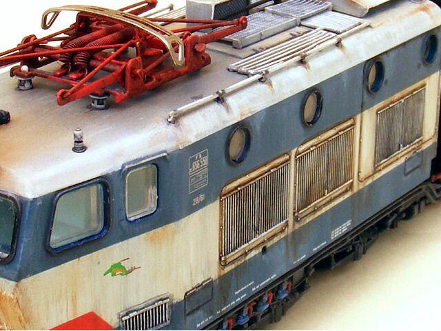 Particolare locomotiva Fs E 656