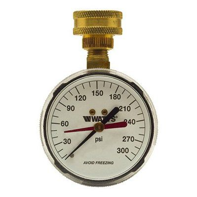 Watts Watts 276H300 0 To 300psi Hose Connection Water Pressure Test Gauge
