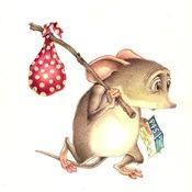 Childrens animation art of rat