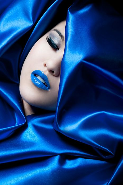 blue: Feeling Blue, Face, Beautiful Blue, Color, Makeup, Cobalt Blue, Lips, Things Blue, Blues