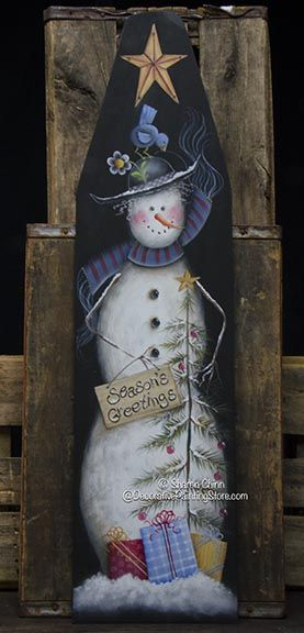 Season's Greetings Snowlady Ironing Board Pattern BY DOWNLOAD
