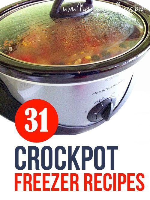 31 Crockpot Freezer Recipes