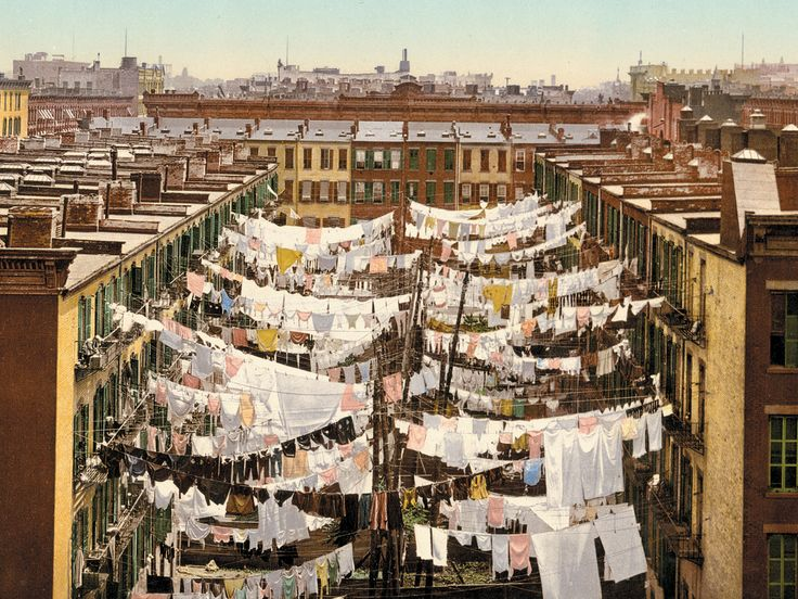 12 Forgotten Hand-Colored Images of Life in the 1800s | A Monday washing, New York  Marc Walter/Courtesy TASCHEN  | WIRED.com