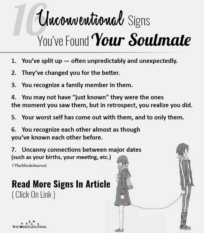 Soulmate found signs you have that your 6 signs