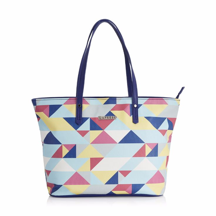 Geometric design looks good on tote bags, isn't it?  Available in 3 styles, these handbags is perfect for casual use.  View collection now on https://acebazaar.in/product-category/women/bags/tote/