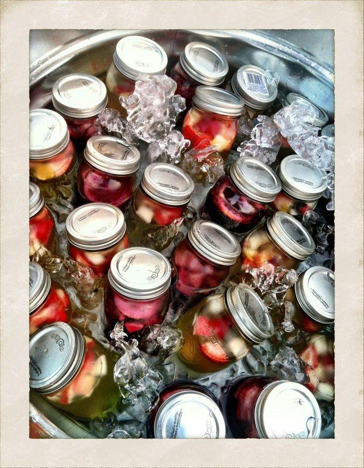 Pre-made Sangria in mason jars! Big Hit!