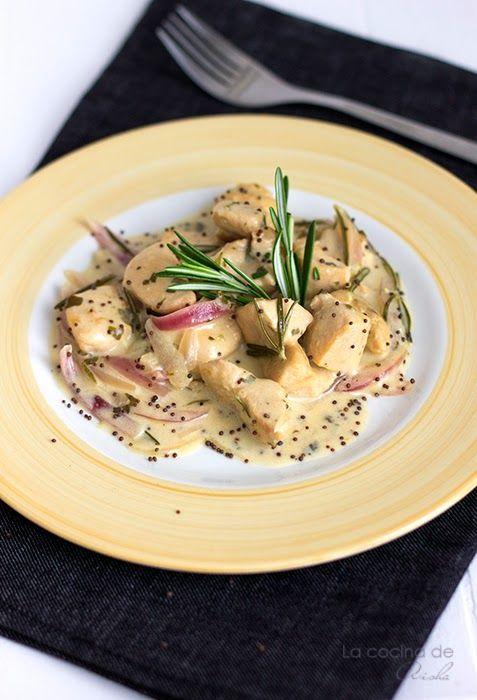 La cocina de Aisha: Pollo a la salsa de mostaza y romero