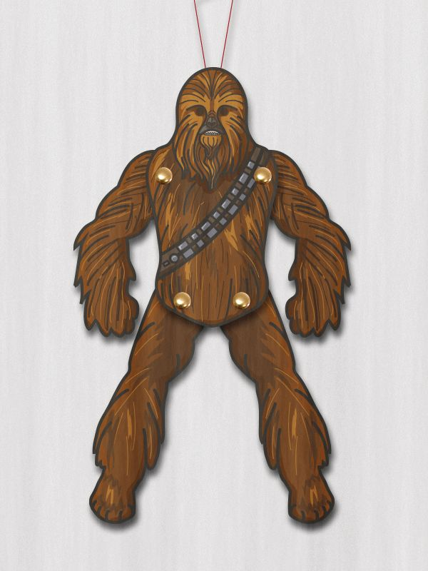 PAPERMAU: Star Wars - Chewbacca Jumping Jack Paper Toy - by M. Gullin