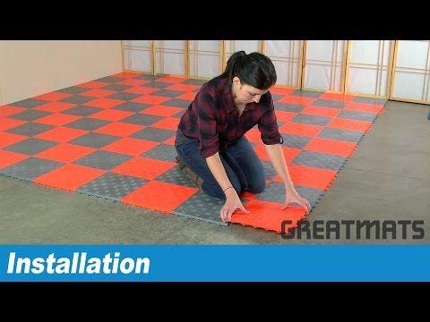 Modular Flooring Tiles - Garage Floor Diamond Top