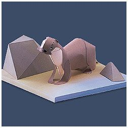 Japanese River Otter - | Paper Crafts(Origami) - Entertainment | YAMAHA MOTOR CO., LTD.