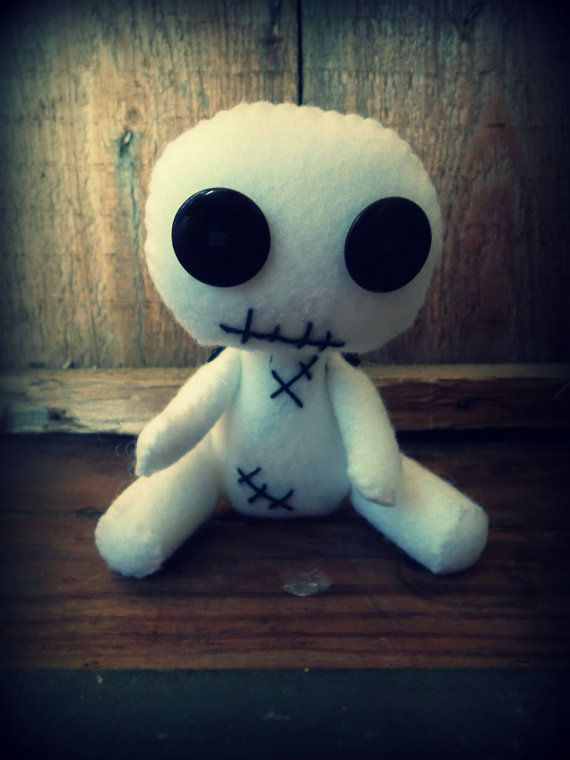 Creepy Voodoo Doll, DIY Kit, Creepy Cute, Gothic Doll, Felt Doll, Make Your Own Doll
